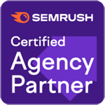 SEMRush Certified Agency Partner badge
